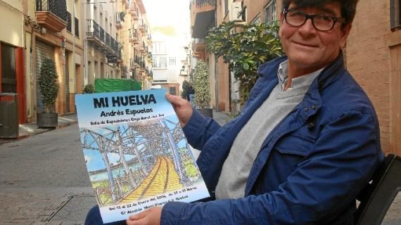 Andrés Espuelas muestra su particular visión de Huelva en una exposición que promete no defraudar