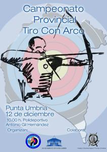 Cartel anunciador de la prueba de tiro con arco que se celebra en Punta Umbría.