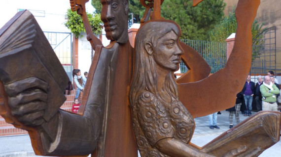 Inaugurada en Moguer una nueva pieza del museo 'Platero EScultura' dedicada al maestro