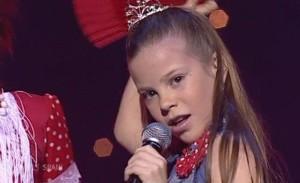 Actuación de María Isabel en Eurovisión Junior.