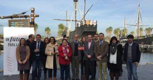 Acto celebrado en el Muelle de las Carabelas del PSOE.