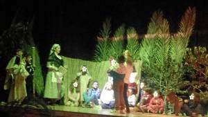 Los niños de Trigueros pudieron sentirse actores por un día.
