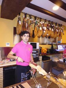 El onubense José Martínez Gago ha llevado el sabor de Huelva a Zaragoza.