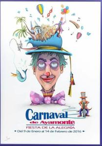Cartel del Carnaval de Ayamonte 2016.