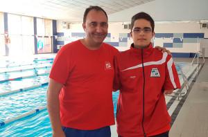 David junto a su entrenador