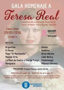 Cartel de la gala homenaje a Teresa Real.