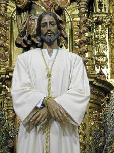 Ntro. Padre Jesús Cautivo, Cumbres Mayores. Talla en madera de cedro policromada.