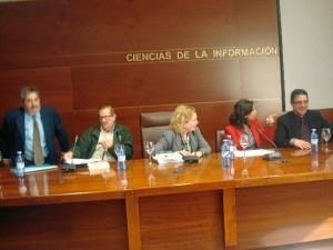 De izquierda a derecha: Cristóbal García, Francisco Moreno,Mirta Núñez, Isabel María Martín y Rafael Zurita.