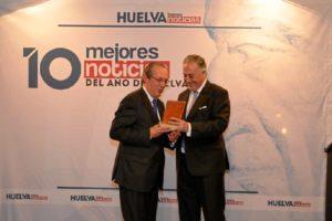 Juan José Blanco, con Enrique Pérez Viguera.