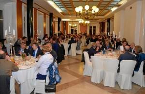 Imagen del Salón de Chimeneas durante la gala.