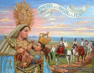 Cartel de la Romería de la Virgen de la Peña 2013.
