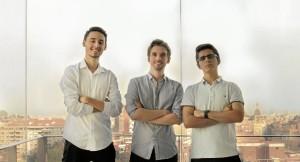 Fundadores de la startup Arkyne Tech. De izquierda a derecha: Rafael Rebollo Cacín, Pablo M. Vidarte Gordillo y Javier Rodríguez Macías.