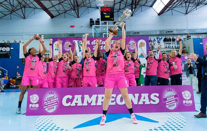 Huelva en la cima del baloncesto femenino español con el triunfo del Conquero en la Copa de 2016.