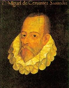 Una conocida imagen de Miguel de Cervantes.