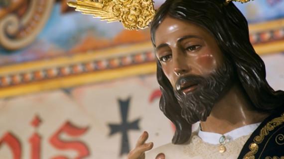 El Cristo del Amor preside este viernes el Vía+Crucis Parroquial de la Iglesia del Sagrado Corazón de Jesús