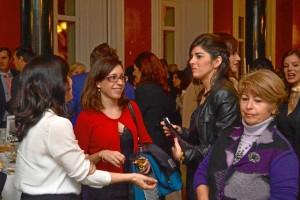 Las redactoras Ana Rodríguez y Paula Crespo, durante la gala.