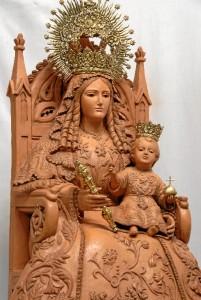 Ntra. Sra. de Los Clarines para la fachada de la ermita de la Aldea de Clarines, Beas.