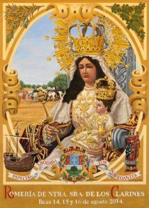 Cartel anunciador de la romería de Nuestra Señora de los Clarines en 2014.