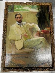 También estaba el retrato original de Sorolla a Juan Ramón. / Foto: Rubén Moreno.