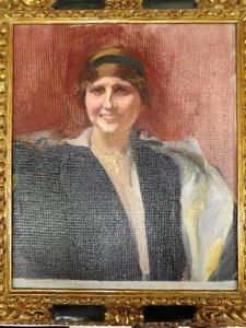 Rubén pudo ver este cuadro de Zenobia pintado por Sorolla. / Foto: Rubén Moreno.