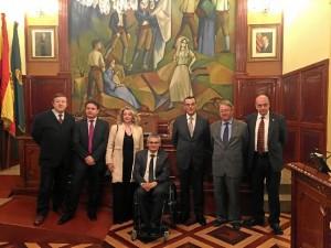 Recepción de autoridades en la Diputación de Lleida.