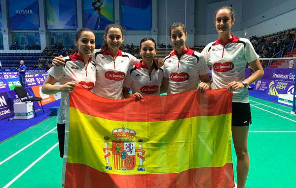 El equipo español peleará este domingo por el oro en el Europeo. / Foto: @Bad_Esp.