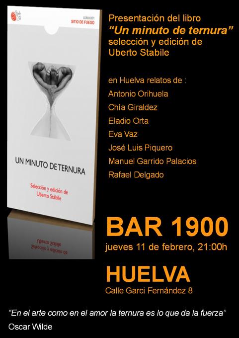 El libro de microrrelatos 'Un minuto de ternura' se presenta en Huelva