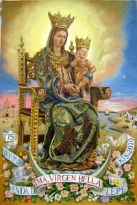 Cartel para la conmemoración del 175 aniversario de la Venida de la Virgen Bella a Lepe.