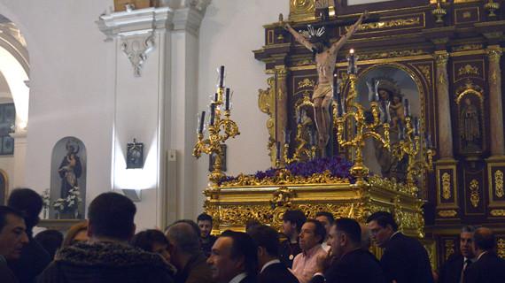 El Santísimo Cristo de Jerusalén y Buen Viaje descansa ya en la Concepción para sus cultos extraordinarios