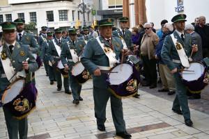 La Centuria Macarena interpretó sus sones puros de cornetas y tambores