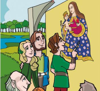 Un cómic convertido en guía artística del santuario de la Cinta