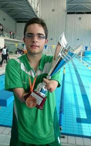 Medalla de oro en el Campeonato de España en 50 metros mariposa.