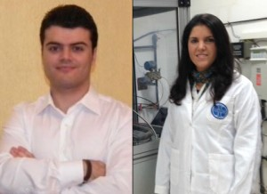 Los jóvenes investigadores onubenses Francisco José Vivas y Ainhoa de las Heras.