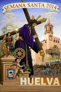 Cartel anunciador de la Semana Santa d Huelva, 2014.
