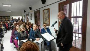 Antonio Ramírez, director casa museo, presentando a todo el público presente.
