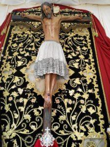 Santísimo Cristo de Burgos de Chucena, conocido como de las 'Enagüillas'.