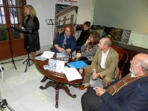 Otra foto de la presentación con la Concejala de Cultura, Lourdes Garrido.