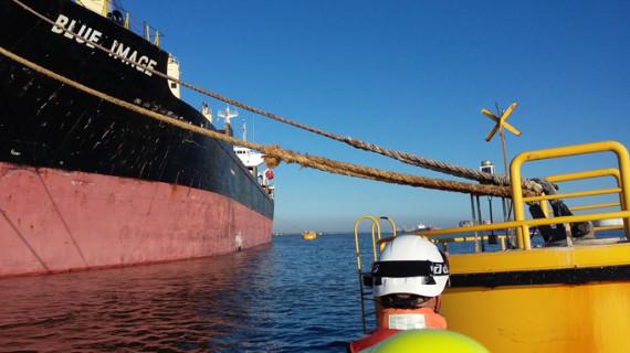 Repatriados los 19 tripulantes filipinos del buque panameño detenido en el Puerto de Huelva