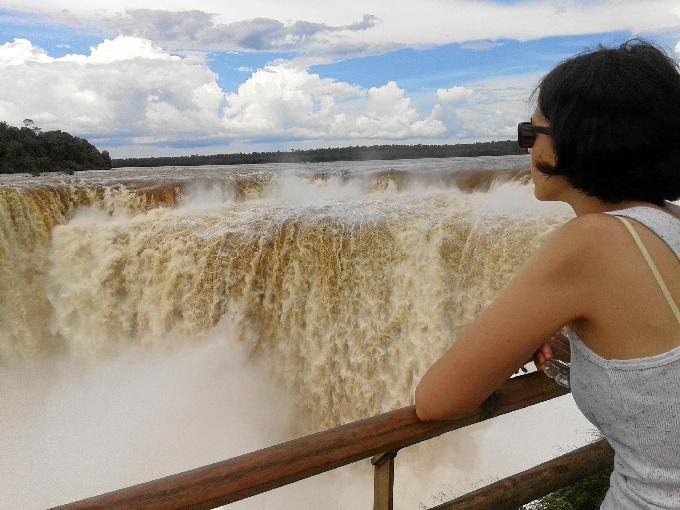 La onubense ha visitado lascataratas de Iguazú, en Argentina.