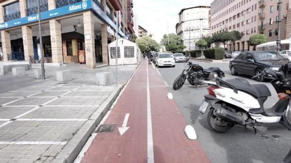 Los comerciantes de Huelva conocen las obras para la ampliación del carril bici