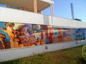 Mural de la residencia de mayores de Ayamonte.
