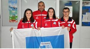 Pepe con deportistas del CODA.