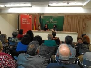 Laura Restrepo presentó su novela en la Biblioteca Provincial de Huelva hace unos días.