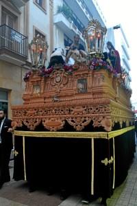 La talla del canasto frontal del paso, que está siendo realizado por Francisco Verdugo, ha sido uno de los estrenos de la cofradía este 2016.