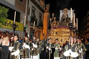 La Soledad cierra la Semana Santa de Huelva.
