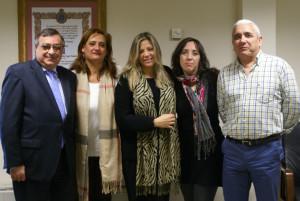 Manuel Alborch, Margarita Fuentes, Nuria de la Rosa, Alicia Narciso y Francisco Abad.