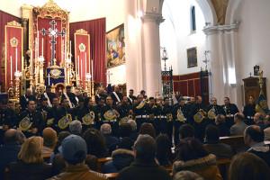 Momento de la actuación en el interior de la Parroquia de la Concepción durante esta Cuaresma