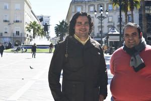 Joaquín González y José Antonio Ponce, directores de la Banda de la Merced