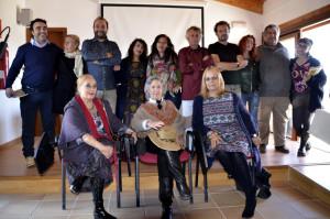 Los poetas que acudieron al Molino el pasado fin de semana.