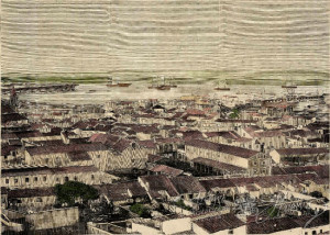 Vista del Puerto de Huelva en el siglo XIX. / Foto: La Ilustración Española. Archivo Histórico Provincial de Huelva.